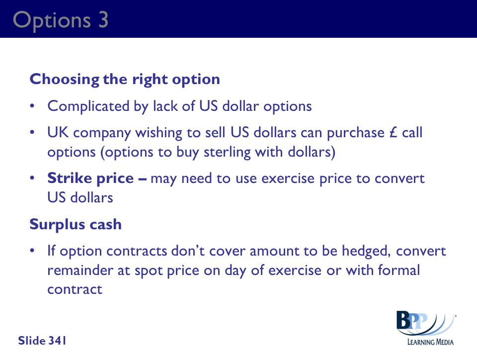 Options 3 Choosing the right option