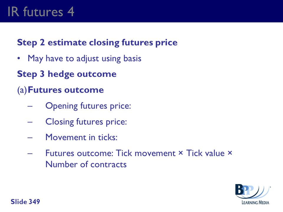 IR futures 4 Step 2 estimate closing futures price