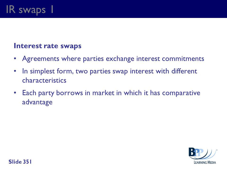 IR swaps 1 Interest rate swaps
