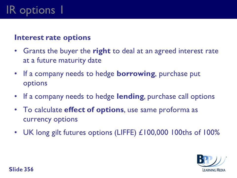 IR options 1 Interest rate options