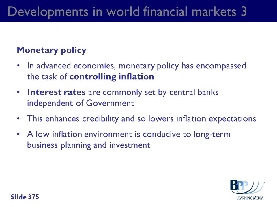 Developments in world financial markets 3