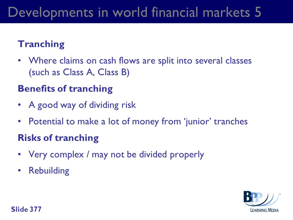 Developments in world financial markets 5