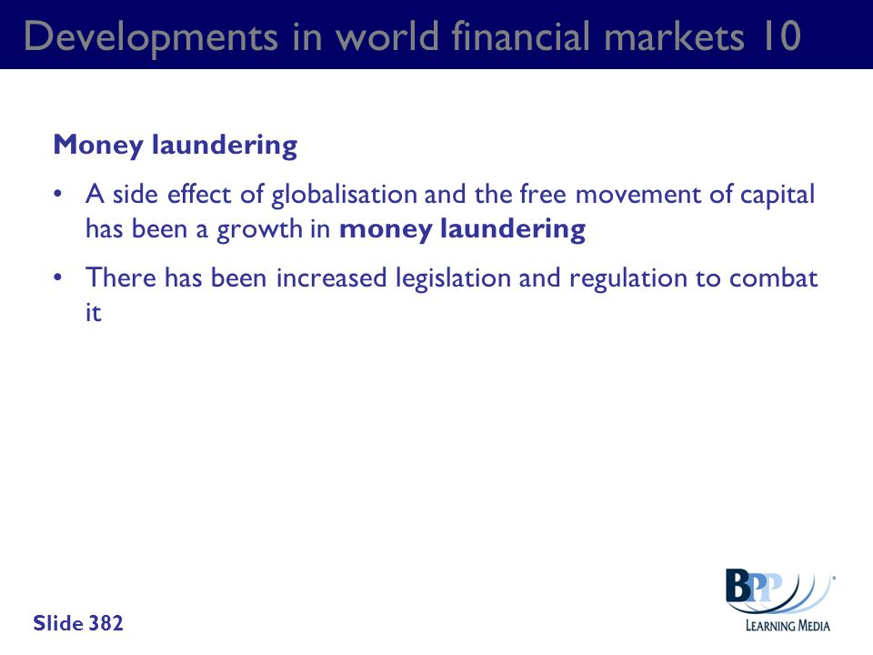 Developments in world financial markets 10