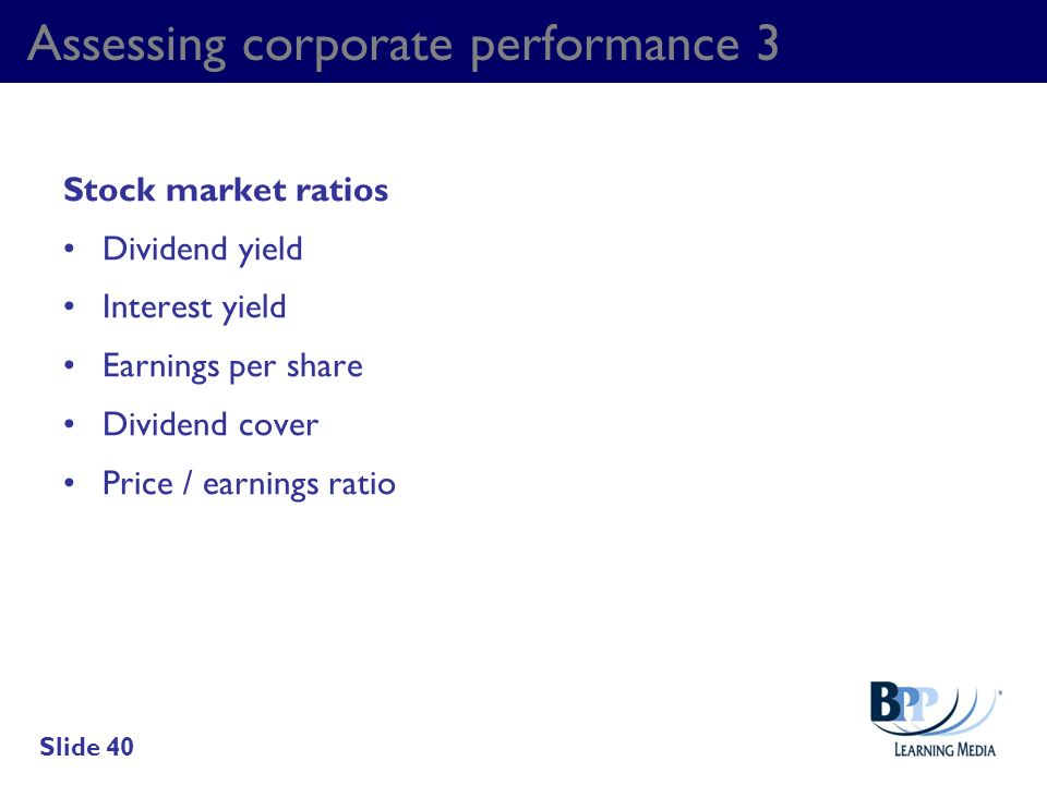 Assessing corporate performance 3