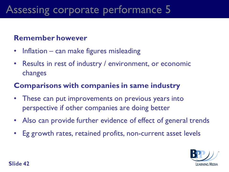 Assessing corporate performance 5