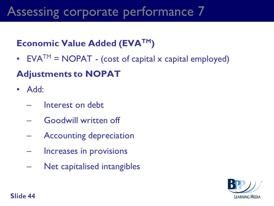Assessing corporate performance 7