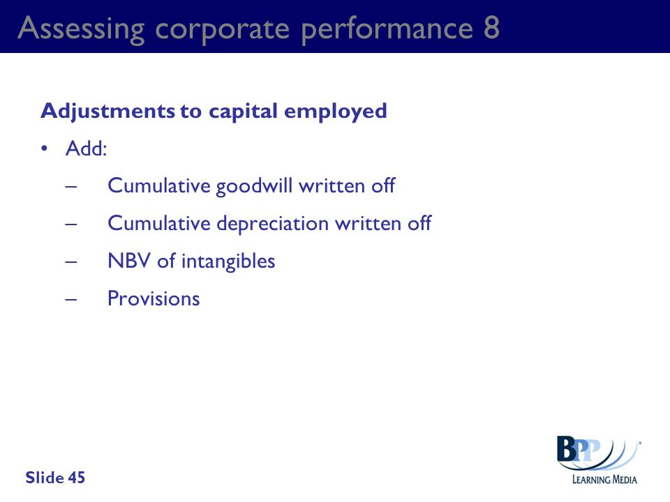 Assessing corporate performance 8