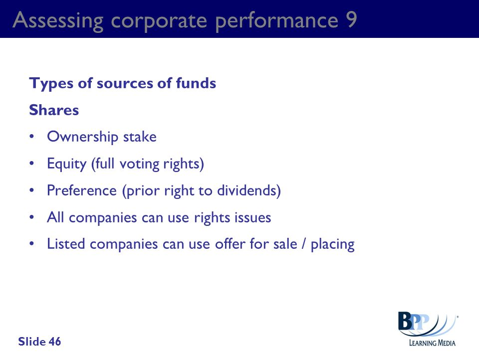 Assessing corporate performance 9