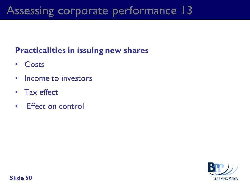 Assessing corporate performance 13