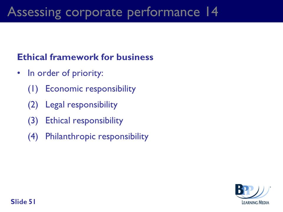 Assessing corporate performance 14