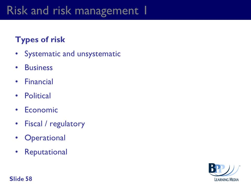 Risk and risk management 1
