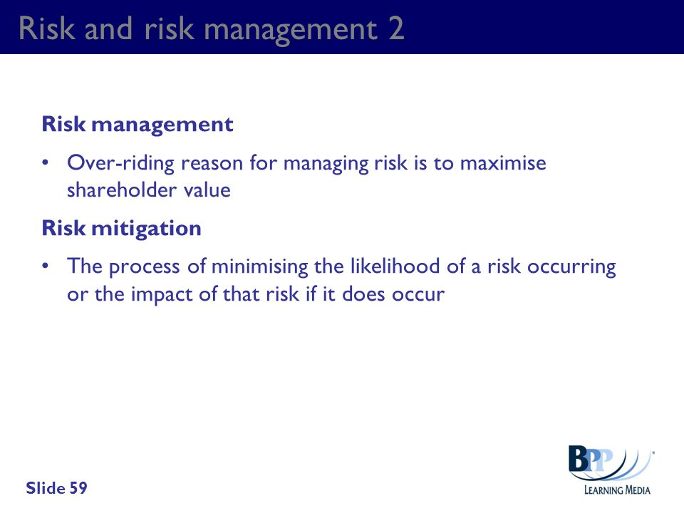 Risk and risk management 2