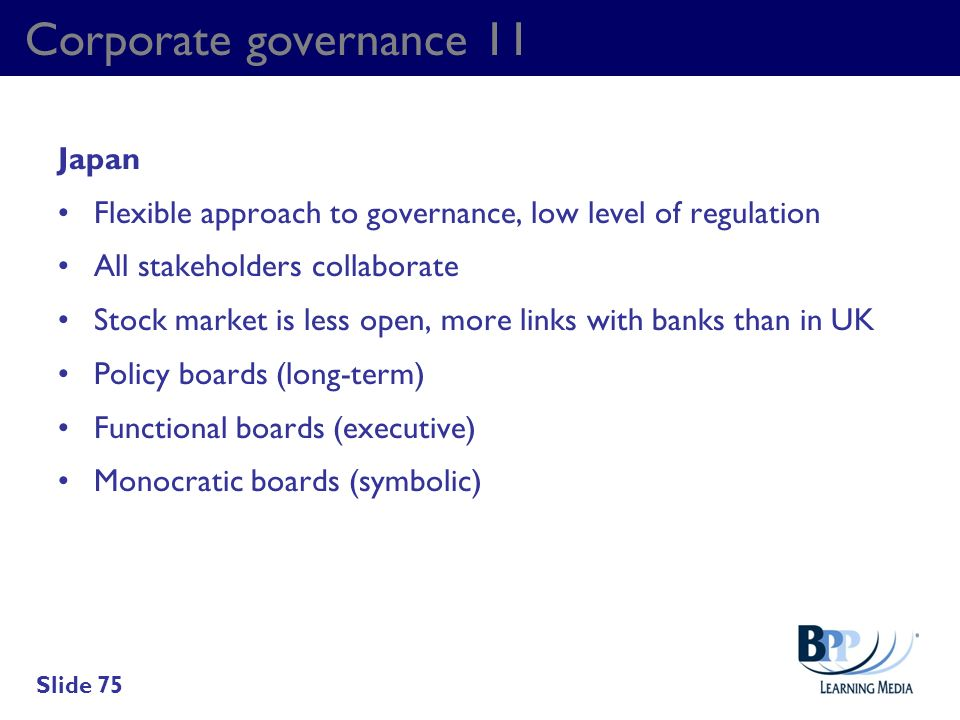 Corporate governance 11 Japan