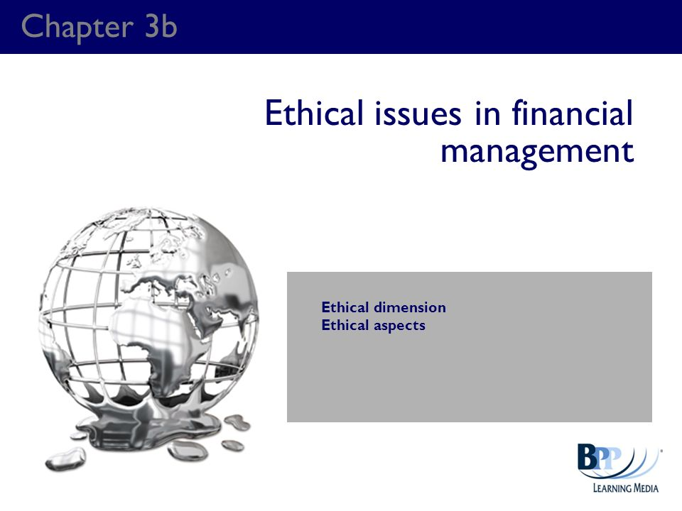 Ethical issues in financial management