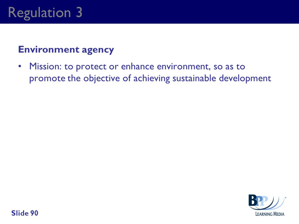 Regulation 3 Environment agency