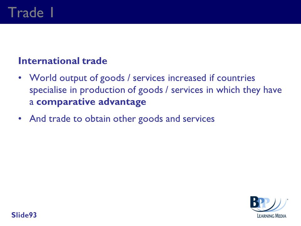 Trade 1 International trade