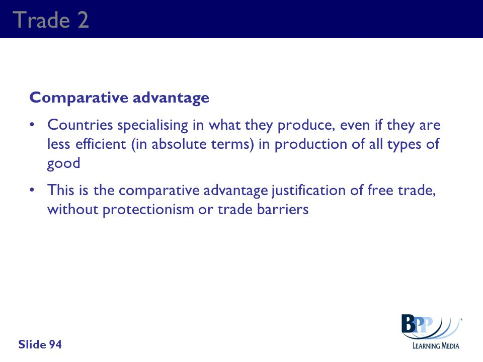 Trade 2 Comparative advantage