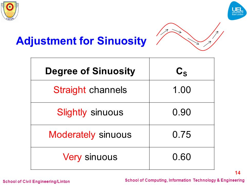 Adjustment for Sinuosity