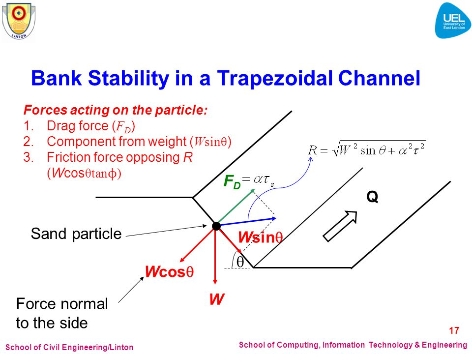 Bank Stability in a Trapezoidal Channel