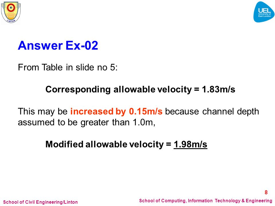 Answer Ex-02 From Table in slide no 5: