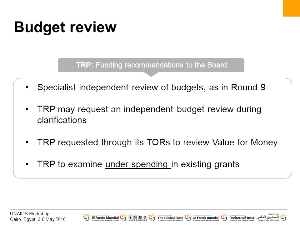 TRP: Funding recommendations to the Board