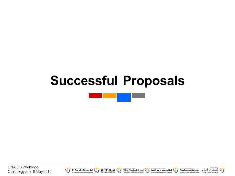 Successful Proposals