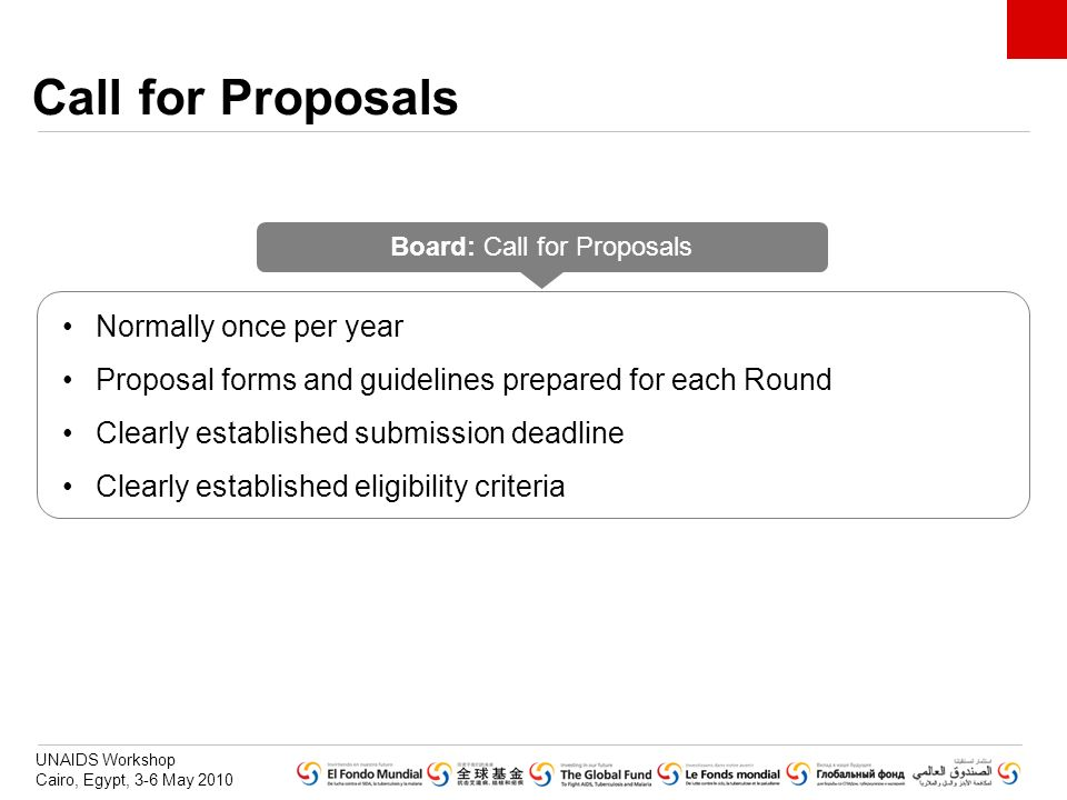 Board: Call for Proposals
