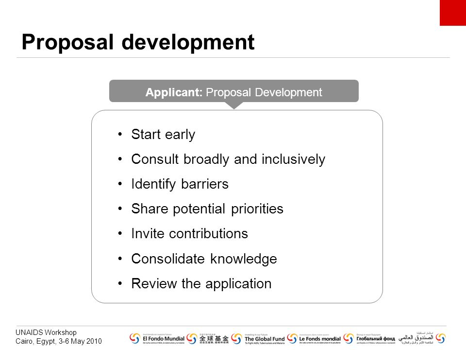 Applicant: Proposal Development