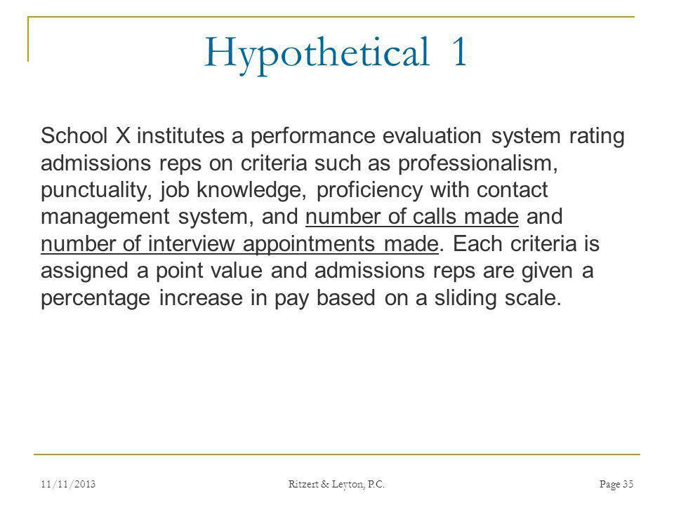 Hypothetical 1