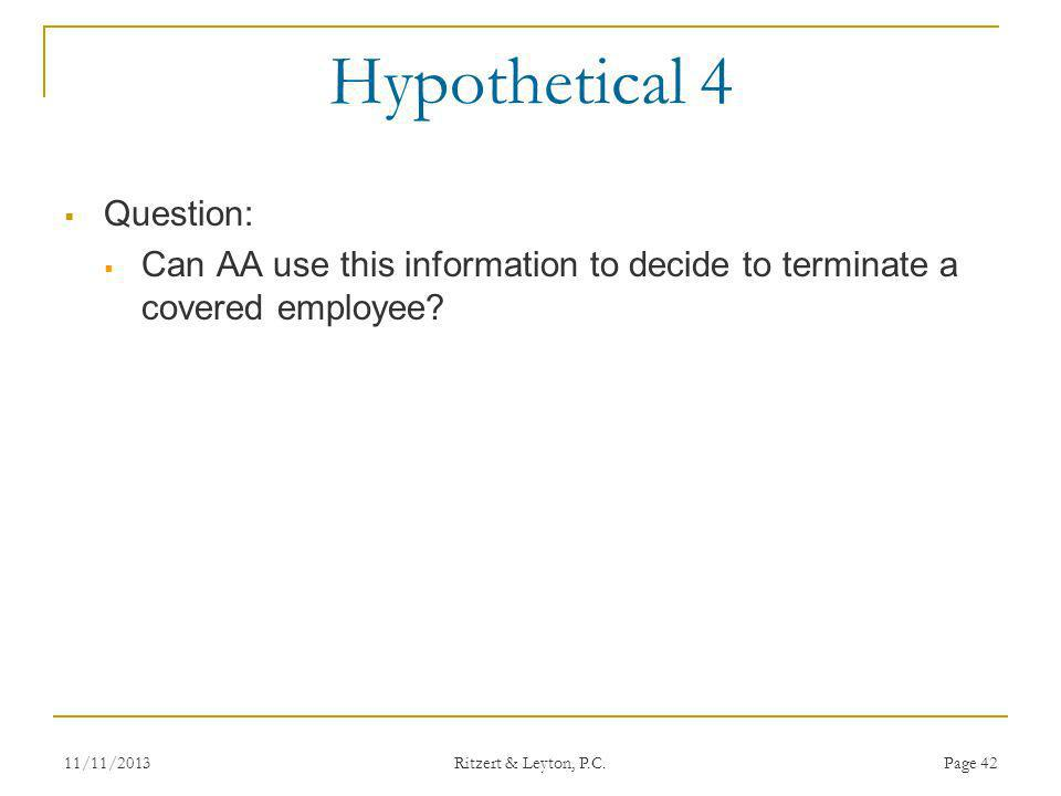 Hypothetical 4 Question: