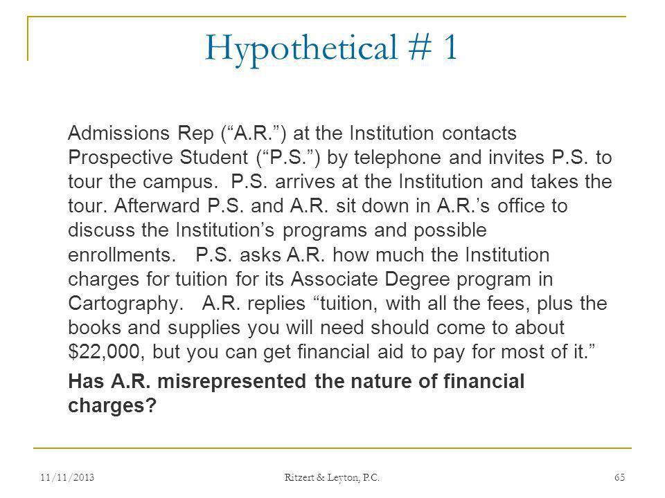 Hypothetical # 1