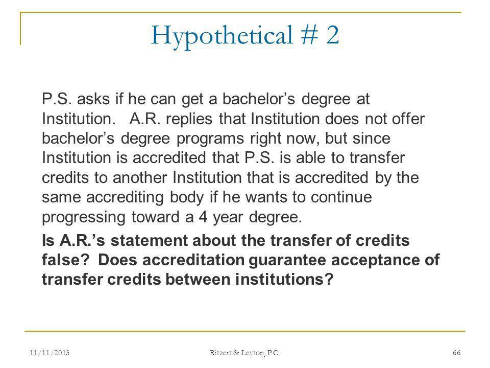 Hypothetical # 2