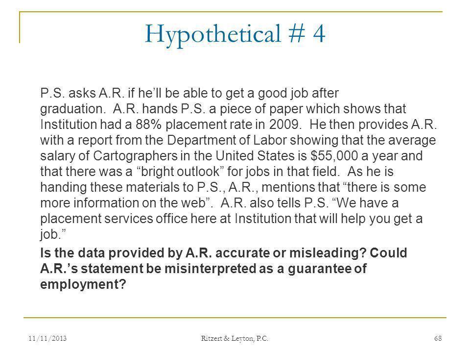 Hypothetical # 4