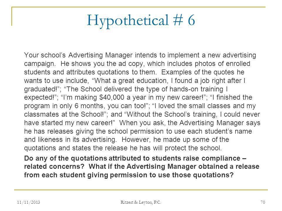 Hypothetical # 6