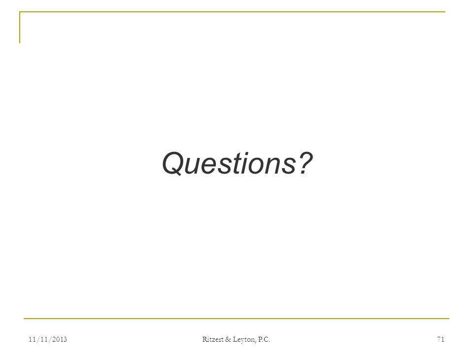 Questions 3/25/2017 Ritzert & Leyton, P.C.