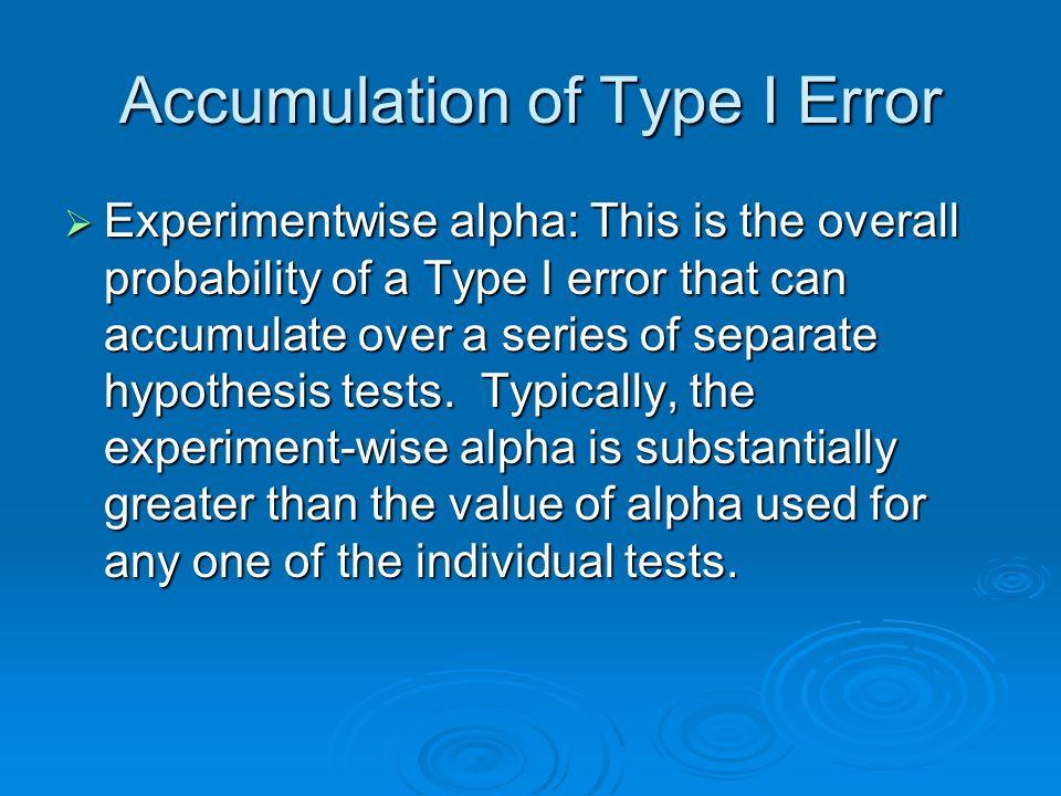 Accumulation of Type I Error
