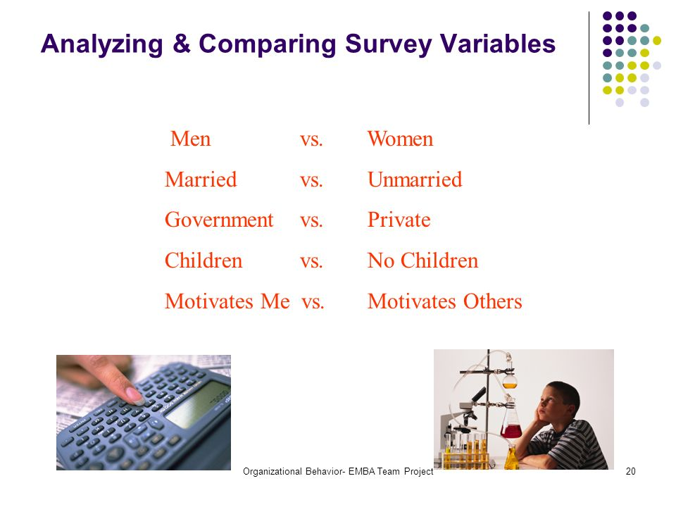 Analyzing & Comparing Survey Variables