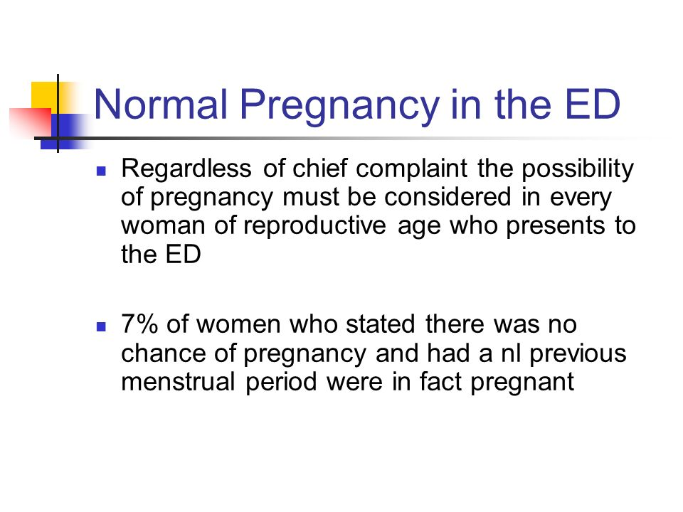 Normal Pregnancy in the ED
