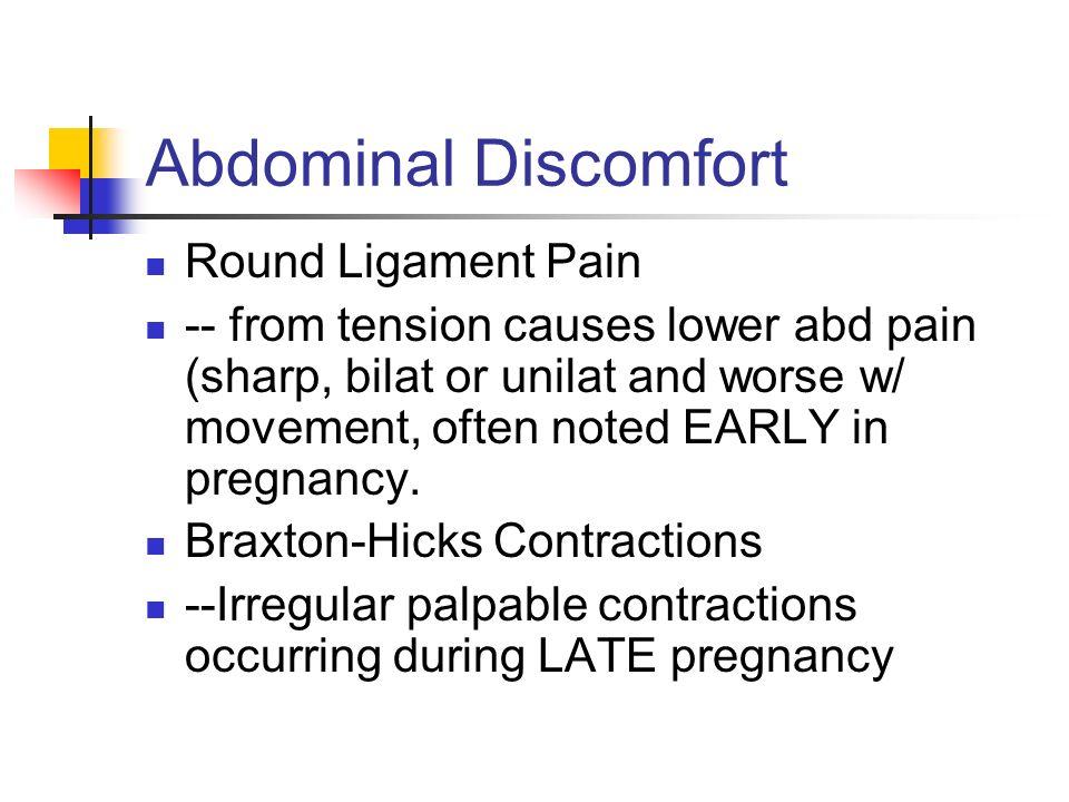 Abdominal Discomfort Round Ligament Pain