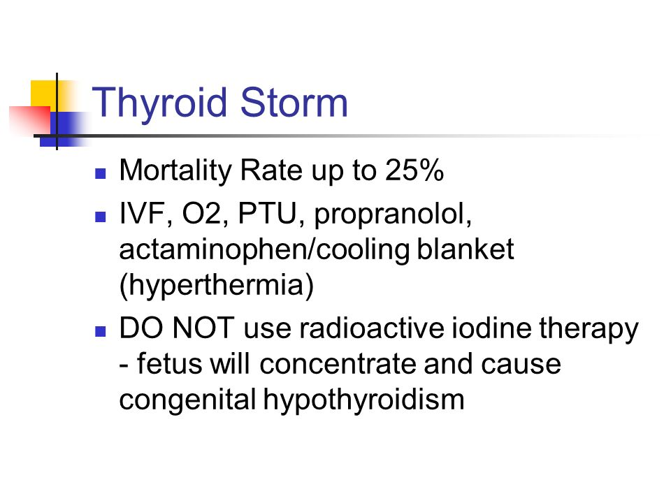 Thyroid Storm Mortality Rate up to 25%