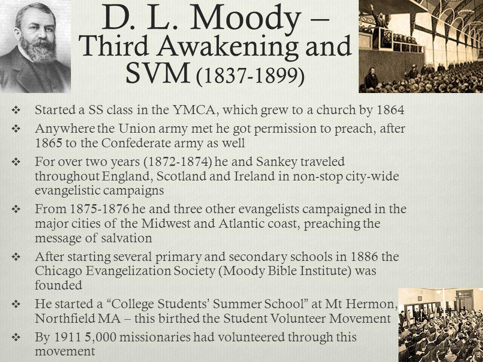 D. L. Moody – Third Awakening and SVM (1837-1899)