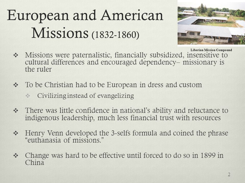 European and American Missions (1832-1860)