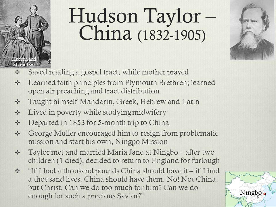Hudson Taylor – China (1832-1905)