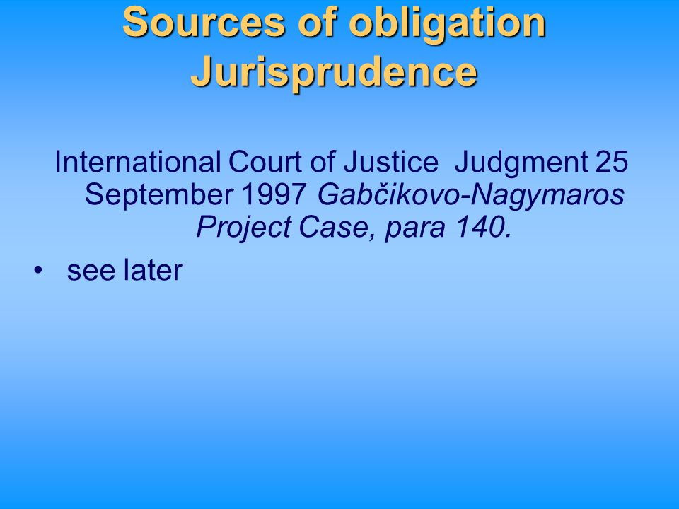Sources of obligation Jurisprudence