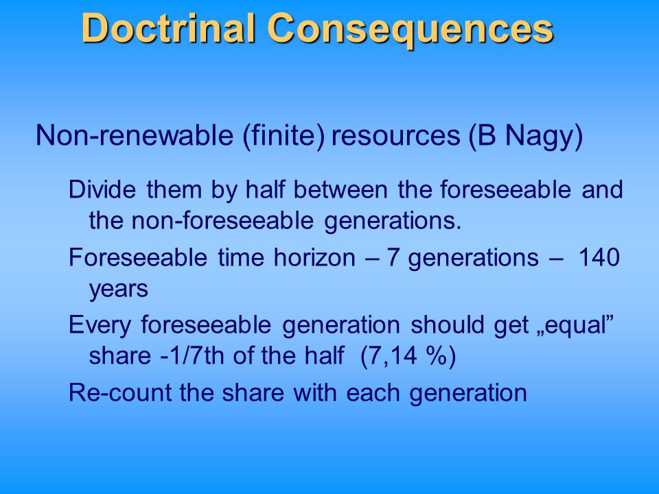 Doctrinal Consequences