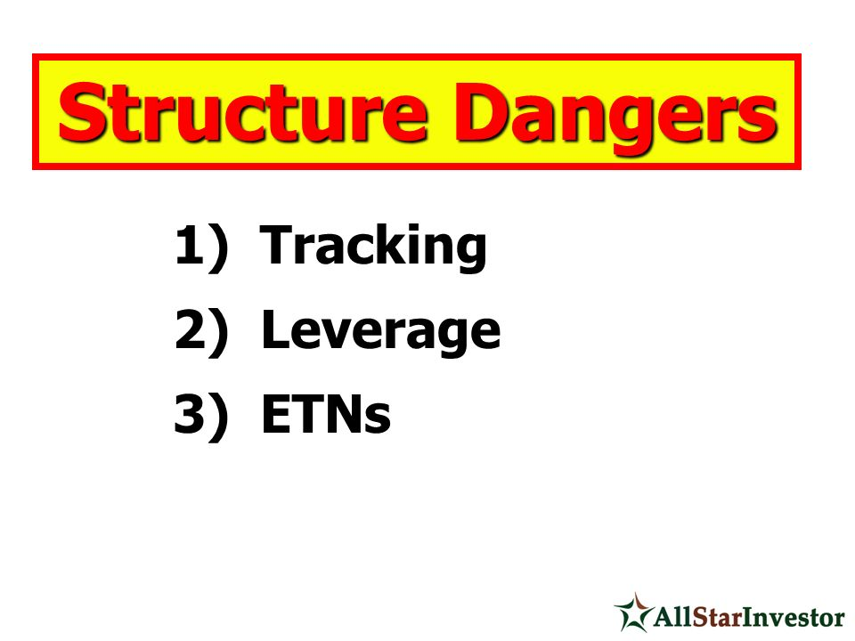 Structure Dangers Tracking Leverage ETNs