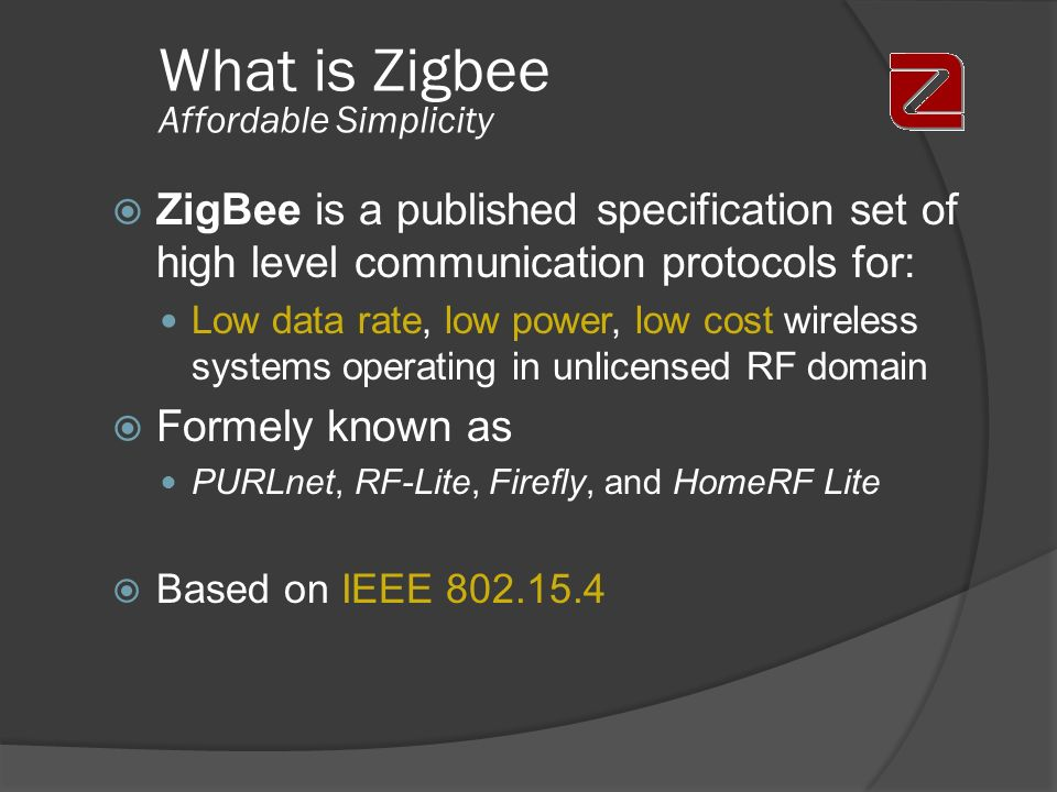 What is Zigbee Affordable Simplicity