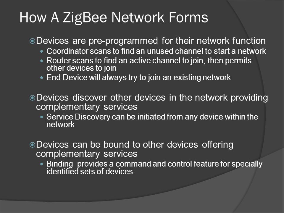 How A ZigBee Network Forms