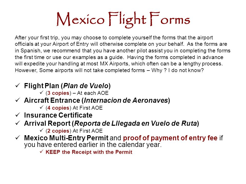 Flying in out of mexico ppt download 18 mexico sciox Gallery