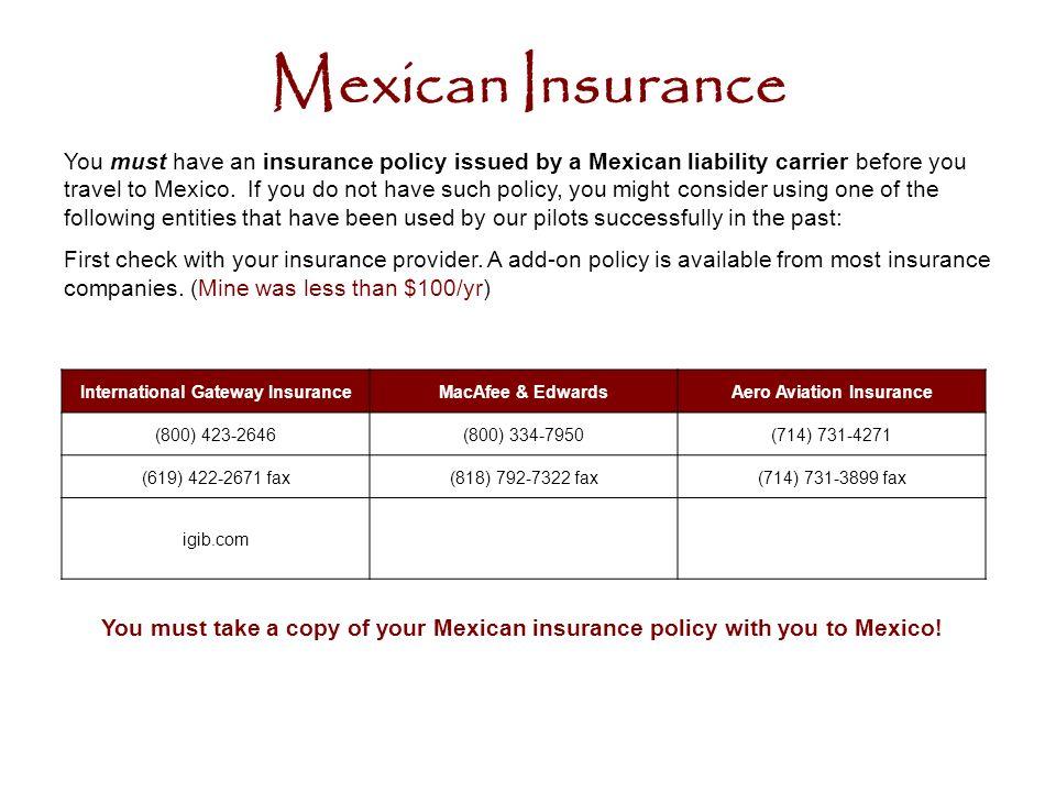 International Gateway Insurance Aero Aviation Insurance